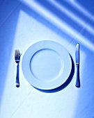 Simple place setting with plate and cutlery