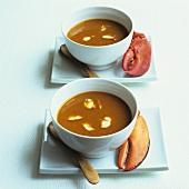Creamed lobster soup