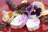 Cauliflower and herb terrine with brook charr fillet