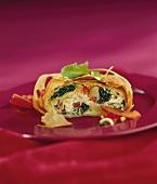 Spinach and potato strudel