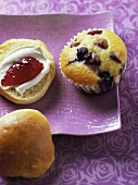 Berry muffin and scone