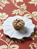 Small nougat cake with pine nuts