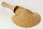 Amaranth on wooden scoop