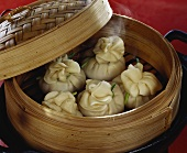 Steamed dim sum with vegetable filling