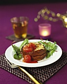 Cheese soufflé with tomatoes