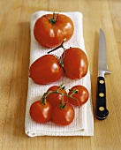 Marmande tomatoes, plum tomatoes and cherry tomatoes