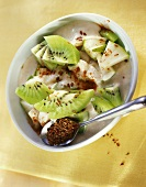 Pear and kiwi fruit salad