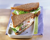 Tuna sandwich in wholemeal bread
