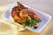 Half a roast chicken