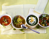 Various vegetable soups