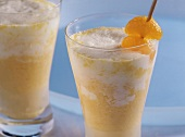 Chilled mandarin milkshake