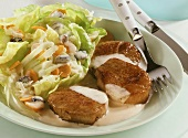 Veal medallions with summer salad