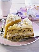 Apple cider cake and pineapple coconut cake