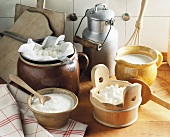 Still life with home-made dairy products