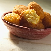 Deep-fried, sweet rice croquettes