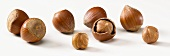 Hazelnuts, with and without shells