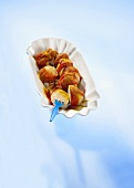 Classic currywurst sausage
