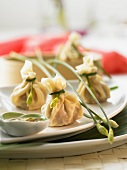 Thai dim sum with mince and vegetable filling