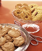 Almond meringue biscuits, pretzels with almonds & almond biscuits