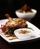 Tandoori chicken with yoghurt dip