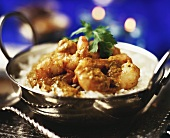 Shrimps with Madras curry