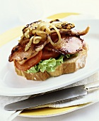 Bacon, lettuce and tomato sandwich (BLT)
