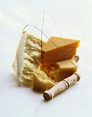 English cheeses with cheese wire