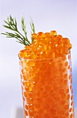 Trout caviar with dill