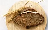 Rye bread and ears of rye