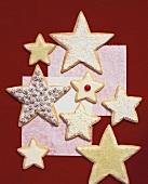 Sternförmige Weihnachtsplätzchen