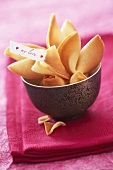Chinese fortune cookies with love note