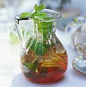 Home-made lemonade with mint