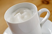 Milk froth in a cup
