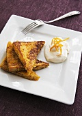 French toast with whipped cream