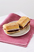 Panini with cranberries, ham and cheese