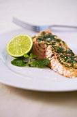 Steamed salmon fillet