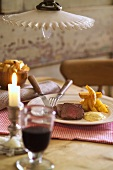 Chateaubriand with chips