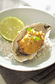 Oyster with shrimp stuffing