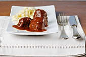 Beef goulash with spaetzle noodles