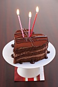 Chocolate heart for 3rd birthday