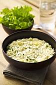 Leek risotto with mascarpone
