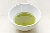 Bowl of green matcha tea (Japan)