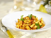 Pasta with Cajun chicken