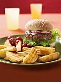 Country potatoes and hamburger