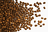 A heap of coffee beans