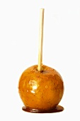 Toffee apple on a wooden stick