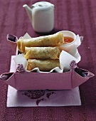Spring rolls with sweet and sour sauce
