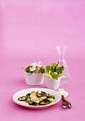 Chicken escalope with shiitake mushrooms