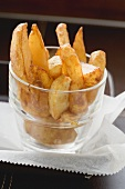 Potato wedges in a glass