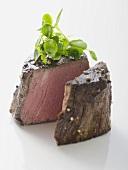Beef fillet steak with fresh herbs